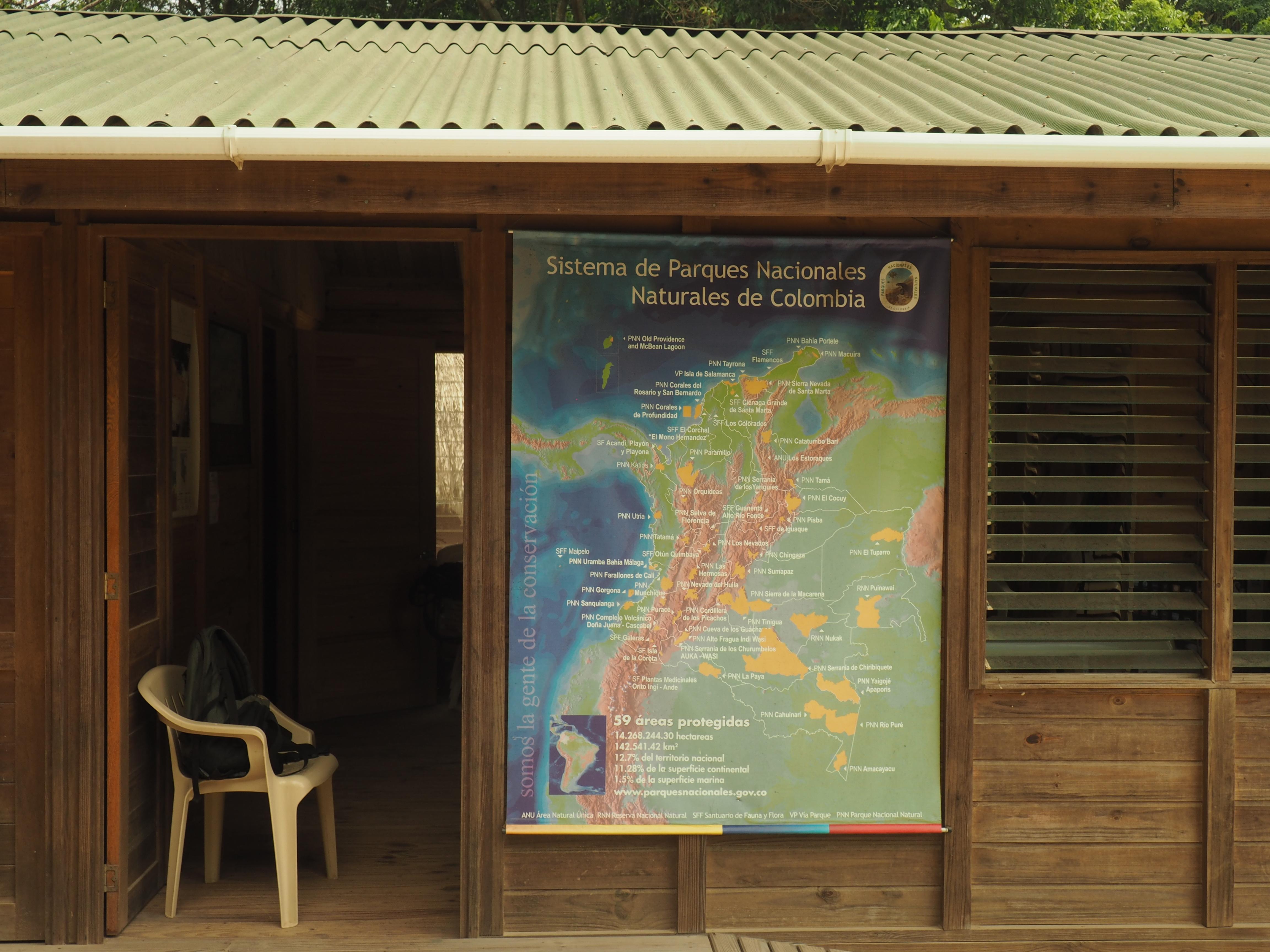 Mapa de los parques del sistema PNN Colombia