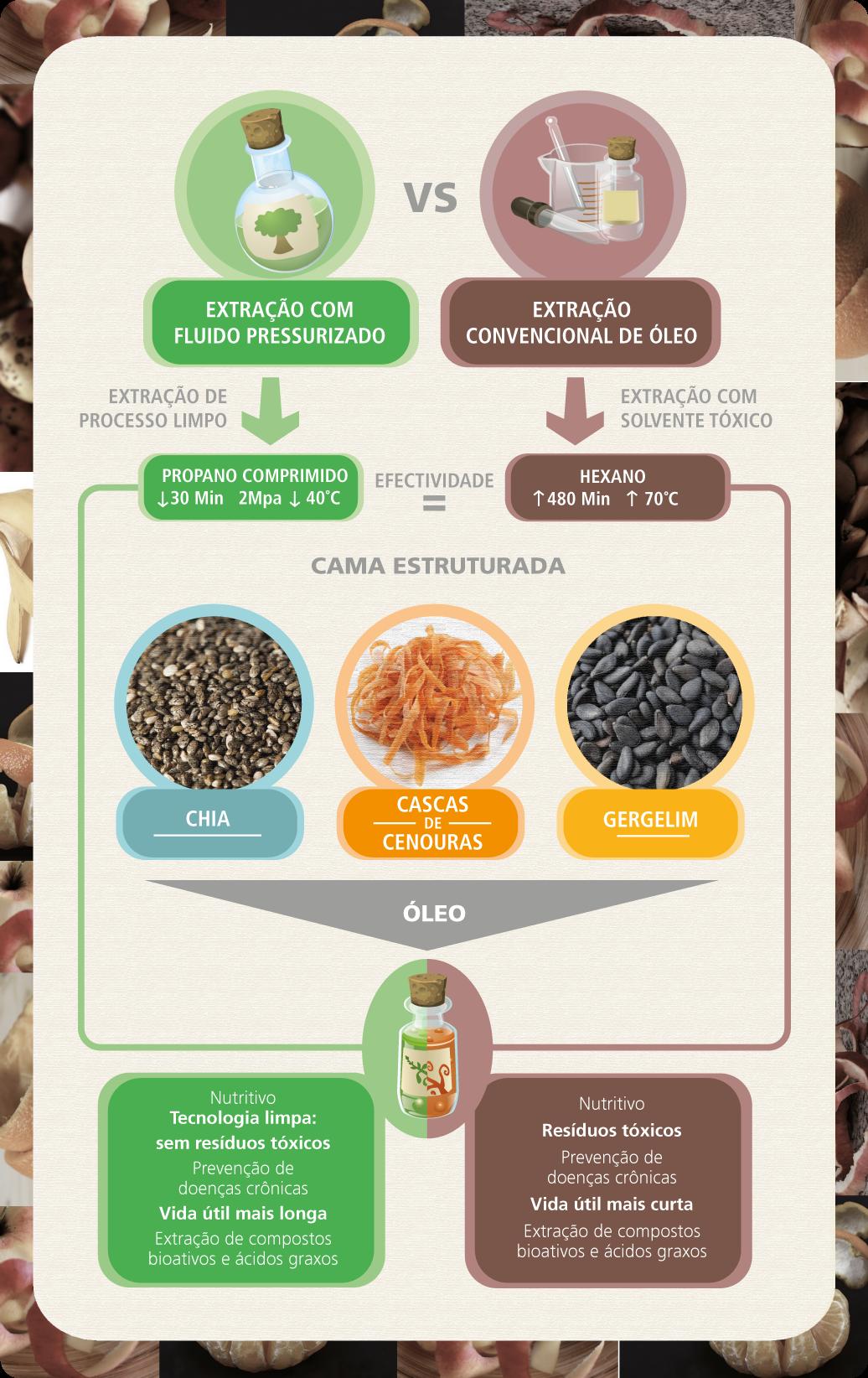 Infográfico de oleos vegetais com cascas (português)