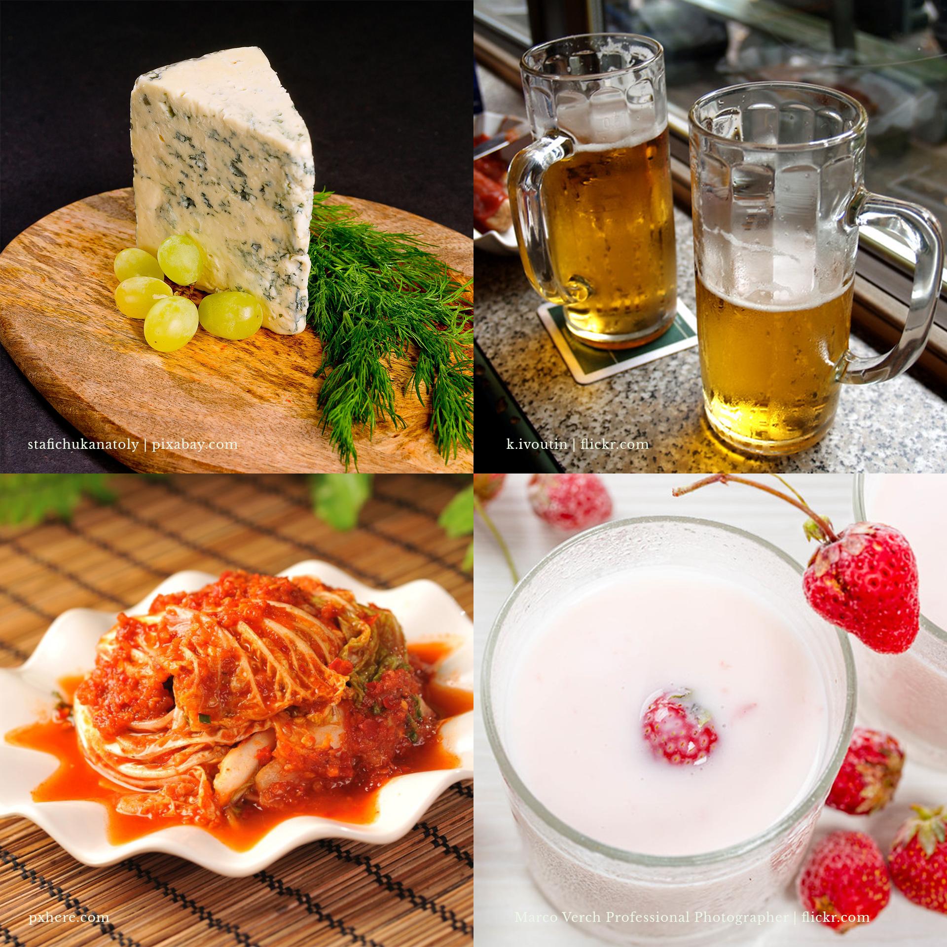Alimentos produzidos com a ajuda de microrganismos