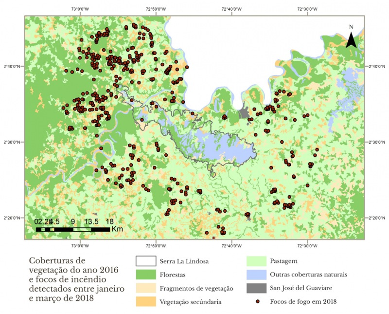 Mapa de coberturas para artigo de Diana Monroy  (português)