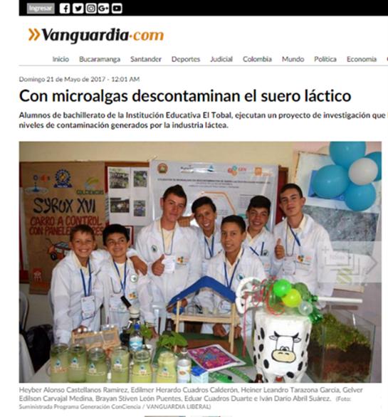 Reportagem de 2017 no jornal Vanguardia