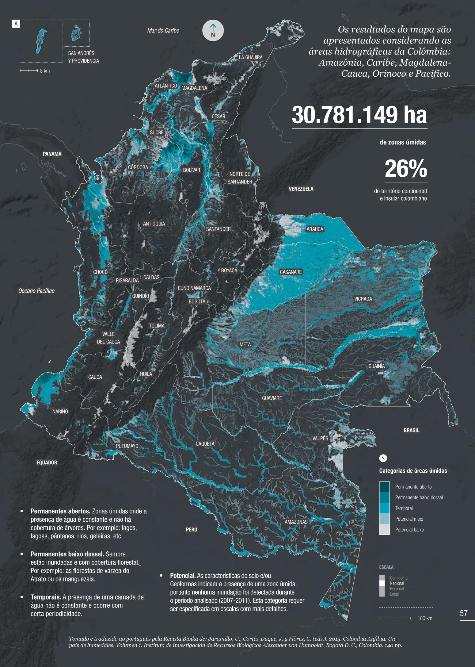 Áreas úmidas da Colômbia
