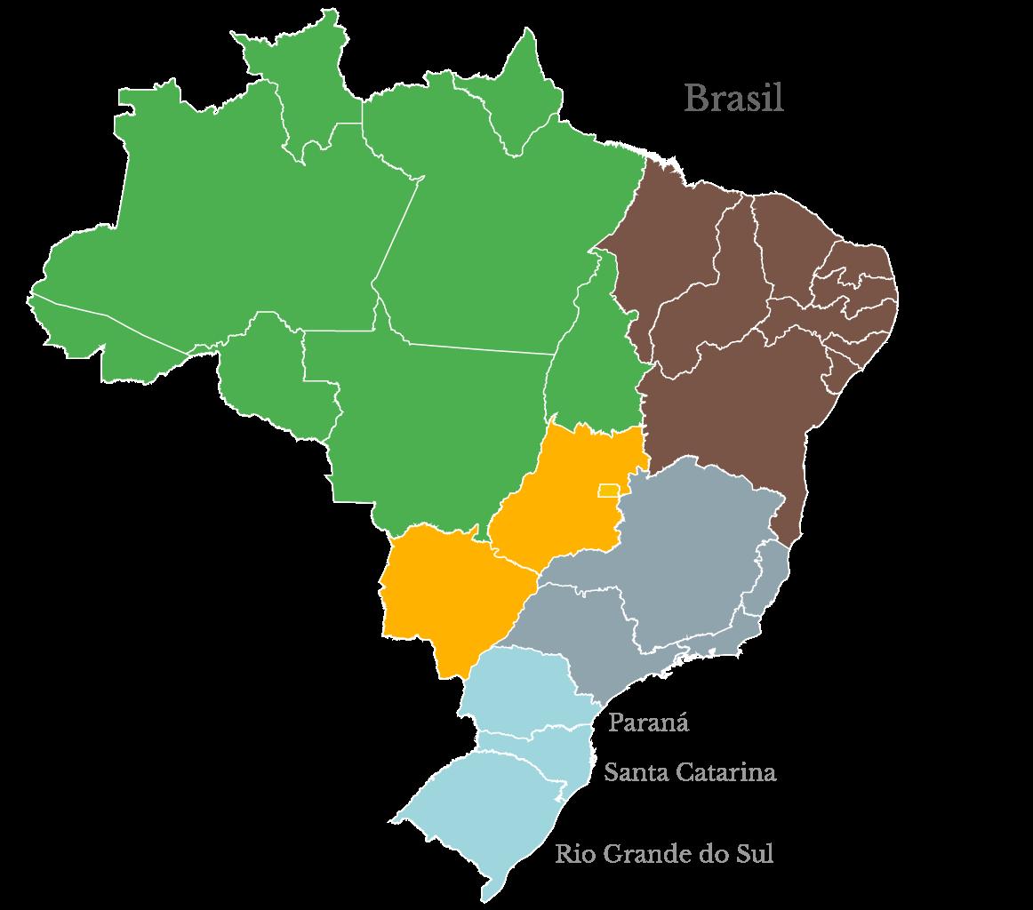 Mapa político de Brasil
