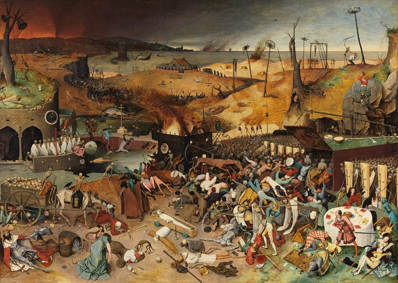 El Triunfo de la Muerte. Obra de Pieter Bruegel, 1562